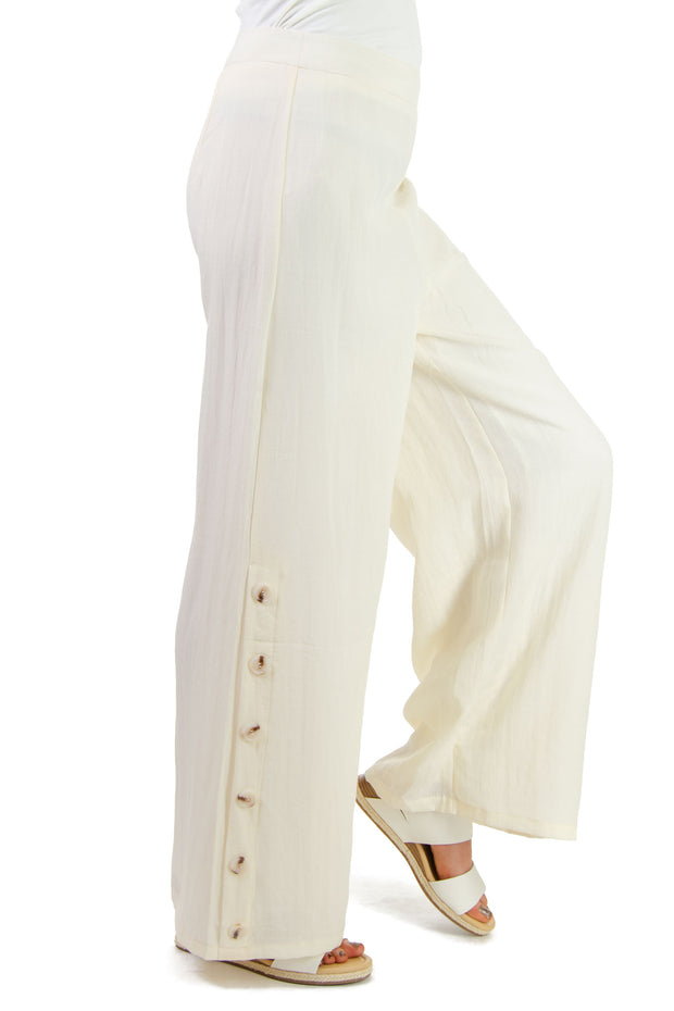 TCEC - Wide Leg Pants in Ivory (CP9167)