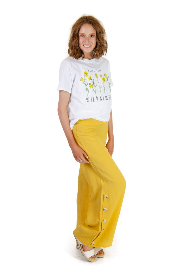TCEC - Wide Leg Pants in Yellow (CP9167)