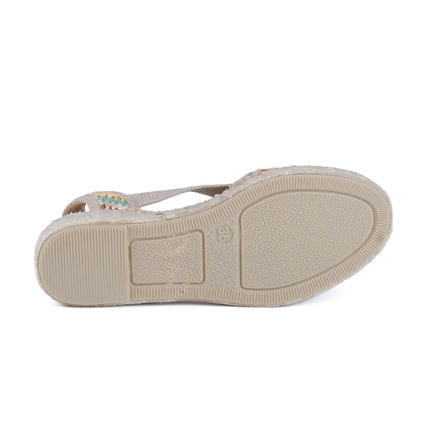 Toni Pons - Estel Open Toe Espadrille Shoe in Natural/multi (Estel)