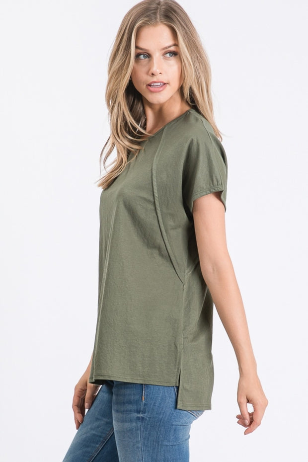 Butterfly Sleeve Top in Olive