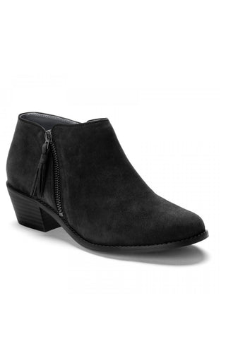 Vionic - Serena Leather Ankle Bootie in Black (322serena)