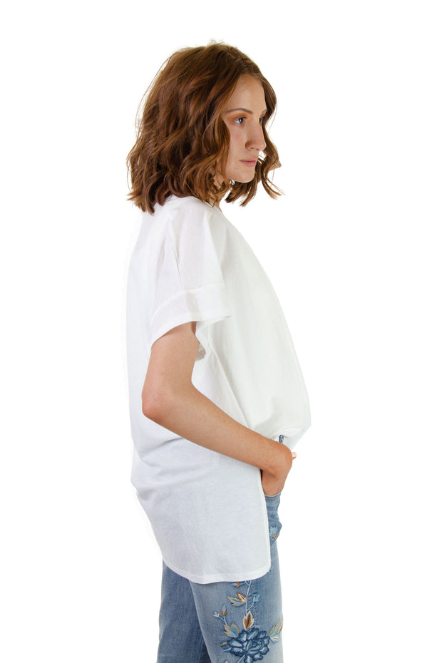 Tres Bien - Woven Short Sleeve Top