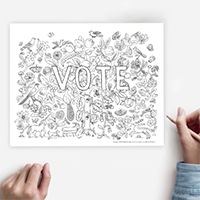 Your VOTE Counts! FREE Printable Coloring Page