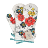 Flower Patch Oven Mitts
