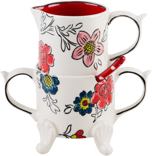 Flower Patch Sugar/Creamer/Spoon Set