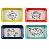 Good thoughts trinket trays set of four