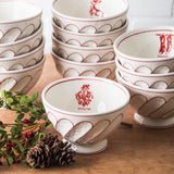 Holiday cereal Bowl-Mistle toe