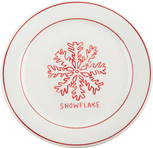 Snowflake Holiday plate