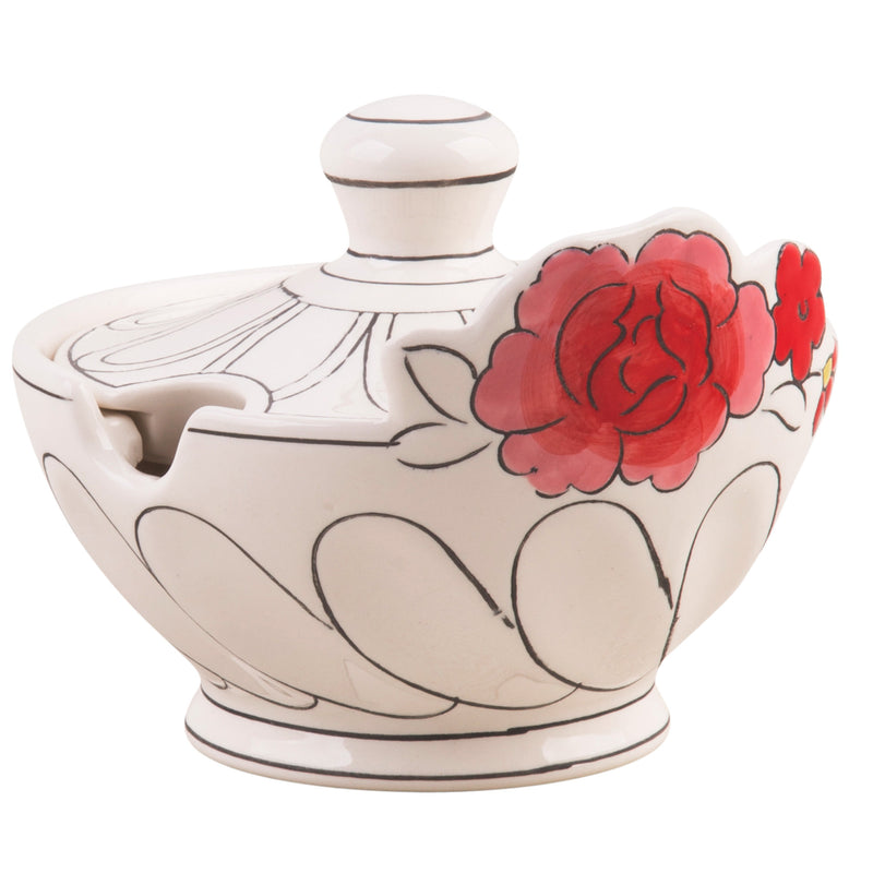 Flower Patch Covered Sugar Bowl