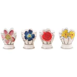 Flower Patch Egg Cups Set of 4