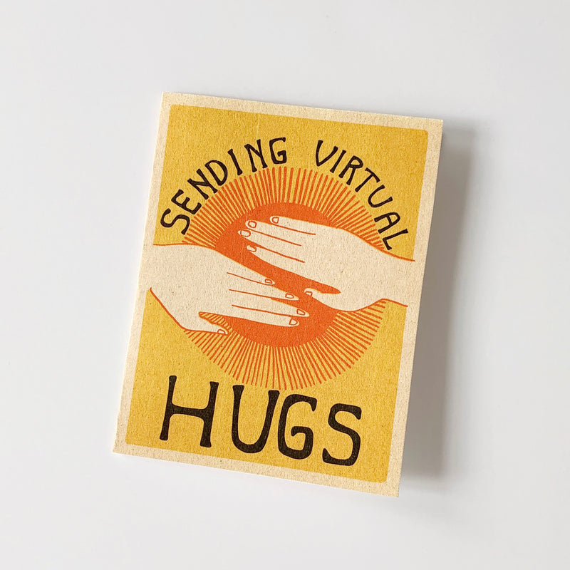 Sending Hugs Printable Greeting Card Instant Download