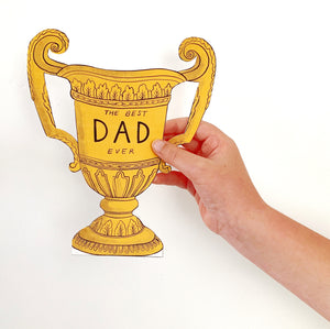 Father's Day Printable Trophy Card Instant Download