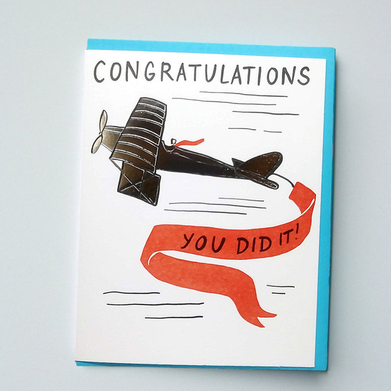 Congrats! Well Done Foil Card