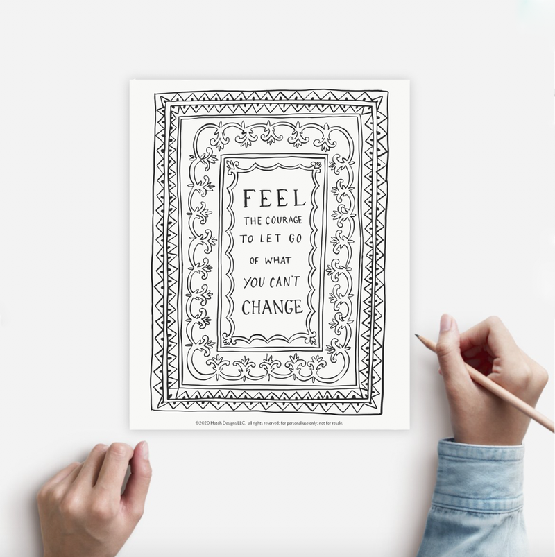 Coloring Page COURAGE Instant Download