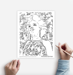 Six Women of History Coloring Page Instant Download