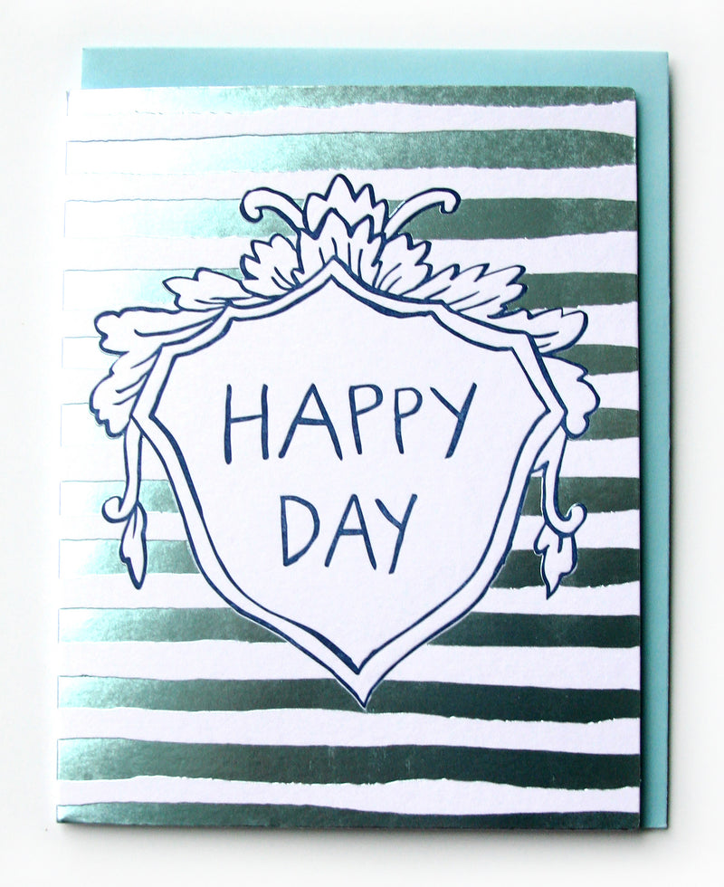 Happy Day Stripes Just Because Card
