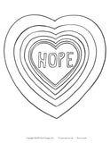 Coloring Page HOPE Instant Download