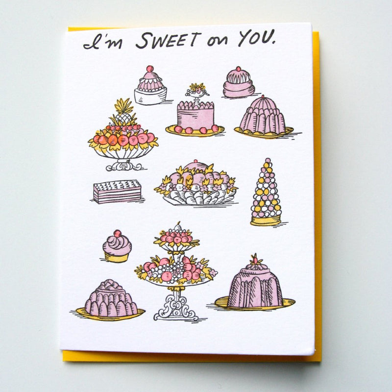 Sweet On You Dessert Card