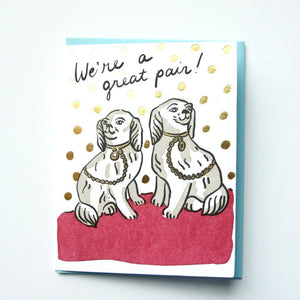 We're a great pair card