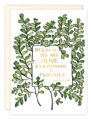 Everything is Possible Birthday Card