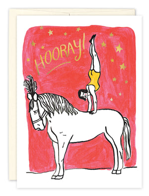 Hooray! Circus Birthday Card