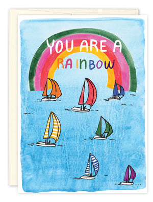 You Are A Rainbow Birthday Card