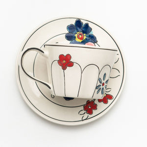 Flower Patch Teacup and saucer