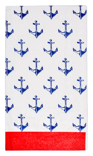 BY THE SEA PAPER GUEST TOWEL/20PK