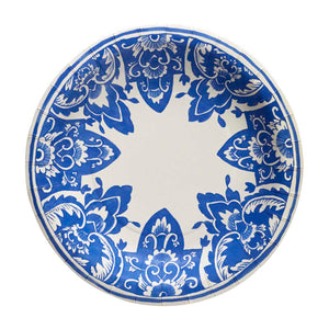 China Blue Paper Lunch Plate set of 8