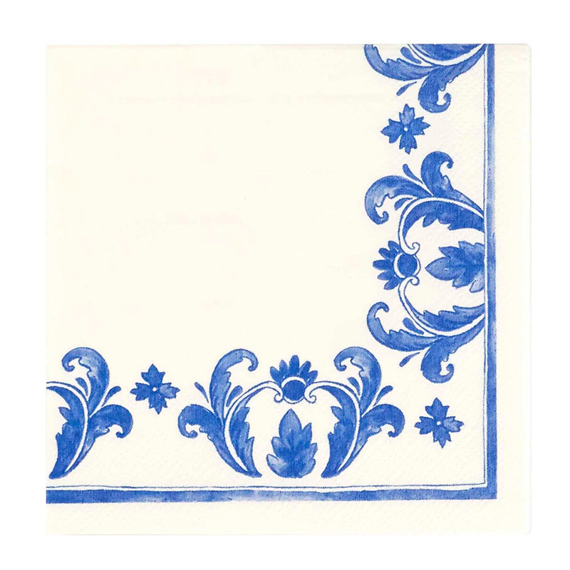 China Blue Beverage Napkins