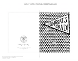 Congrats Grad Printable Greeting Card Instant Download