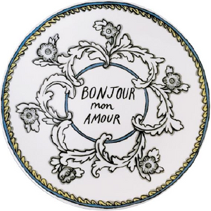 "Little Things Bonjour Mon Amour 8"" Plate"