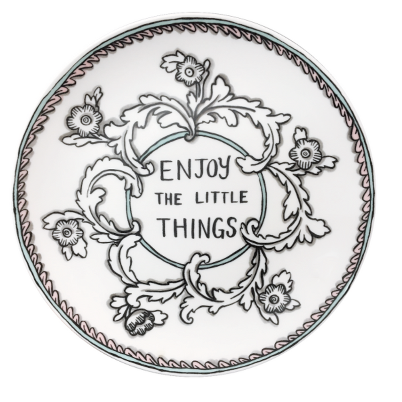 "Enjoy The Little Things 8"" Plate"