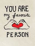 Favorite Person Printable Greeting Card Instant Download