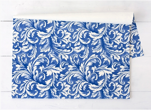 China Blue Acanthus Paper Placemats