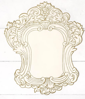 Gilded Frame Die Cut Paper Placemat