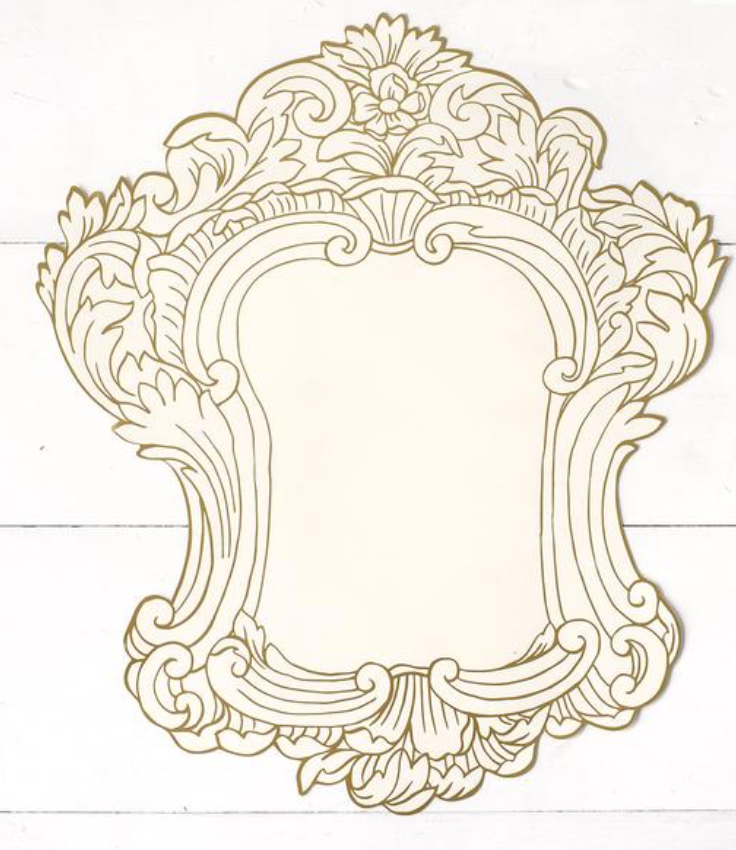 Gilded Frame Die Cut Paper Placemat | Molly Hatch