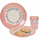 Holiday Milk & Cookie Plate Set