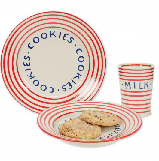 Cookie Plate & Tumbler Set Holiday Stripes