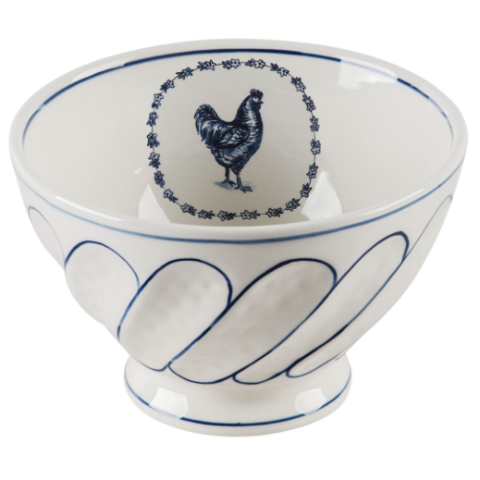 Vintage Farm Cereal Bowl Rooster