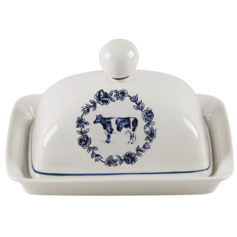 Vintage Farm Butter Dish Cow