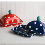 Good Thoughts Butter Dish-Blue