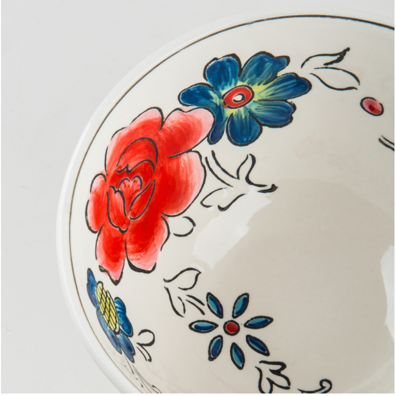 Flower Patch Serving Bowl Molly Hatch