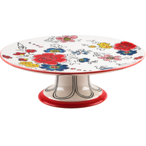 Flower Patch Footed Cake Stand