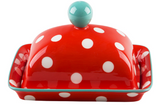 Good Thoughts Butter Dish-Red