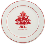 Christmas Tree Holiday Icon plate