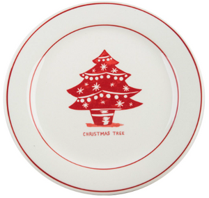 Christmas Tree Holiday plate