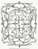 Coloring Page SCROLL Instant Download