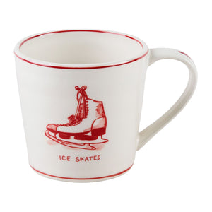 Ice Skates Holiday Icon Mug
