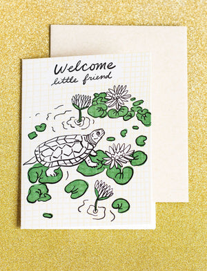 Welcome Turtle Card